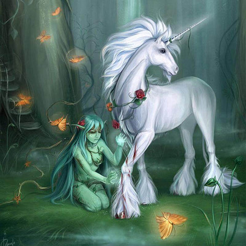 Image of White Unicorn - DIY Diamond Painting