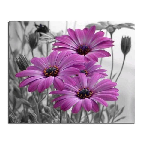 Image of Purple Daisy - DIY Diamond  Painting