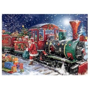 Santa's Train - DIY Diamond  Painting