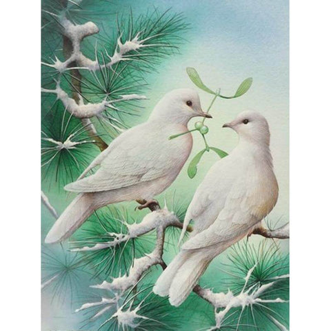 Image of Two Pigeons - DIY Diamond  Painting