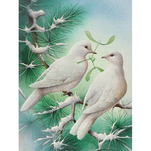Two Pigeons - DIY Diamond  Painting