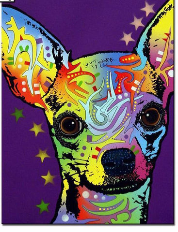 Image of Colourful Dog - DIY Diamond  Painting