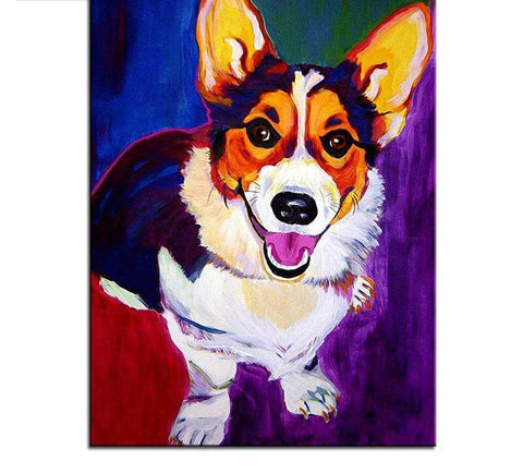 Image of Colored Dog -DIY Diamond Painting