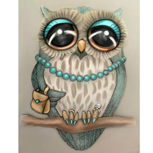 Fancy Owl - DIY Diamond  Painting