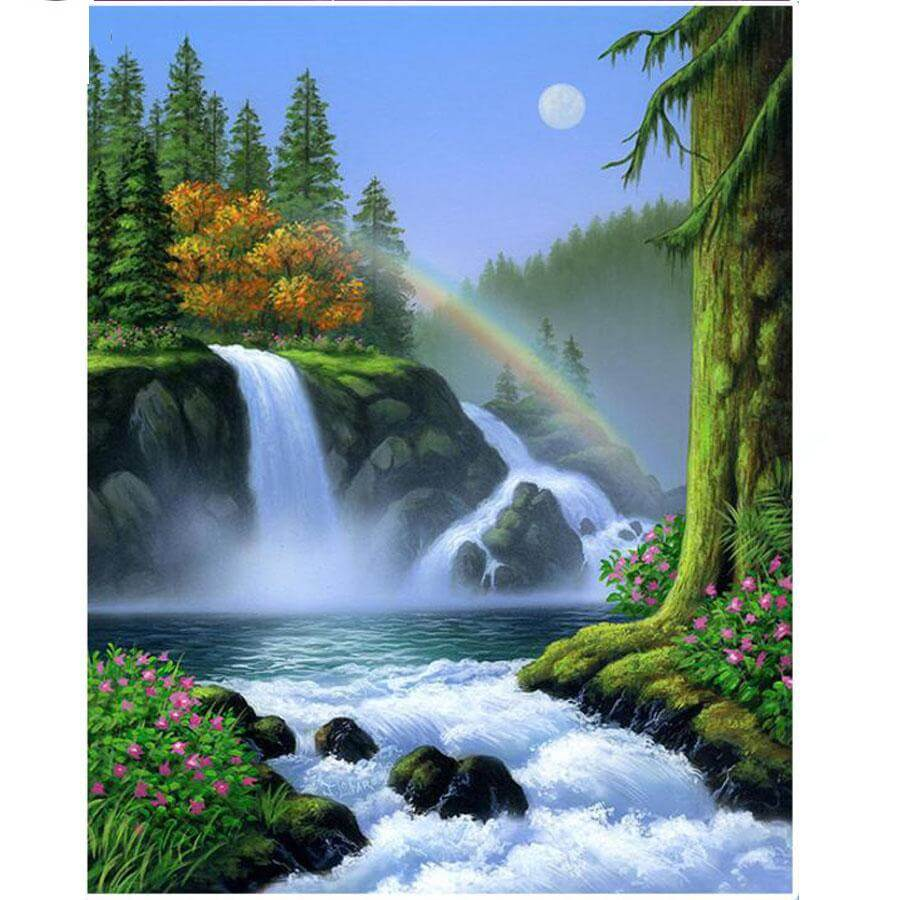 Waterfalls - DIY Diamond Painting