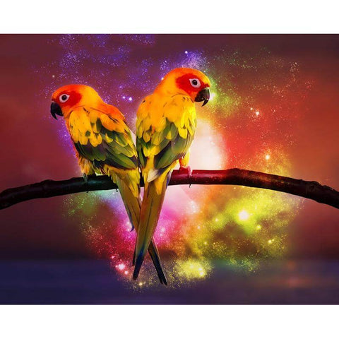 Image of Lovely Parrots - DIY Diamond Painting