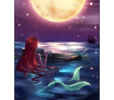 Image of Mermaid under the moon - DIY Diamond Painting