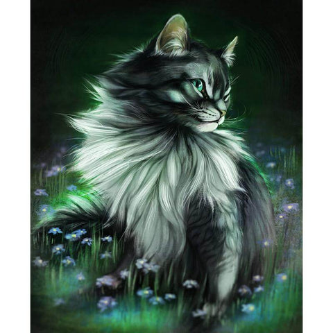 Image of Glowing Cat - DIY Diamond Painting