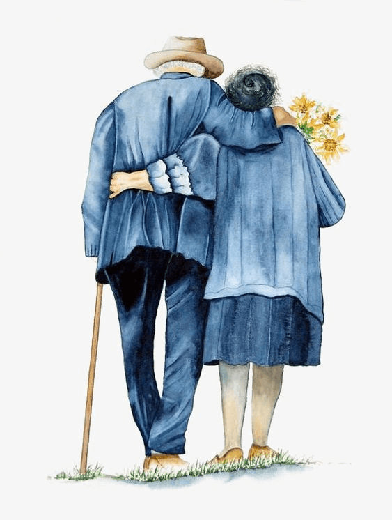 old couple painting
