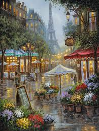 Image of Eiffel Landscape - DIY Diamond Painting