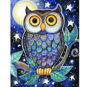Night Owl - DIY Diamond  Painting