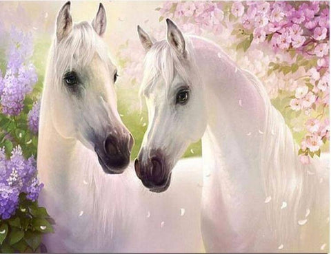 White horses - DIY Diamond  Painting