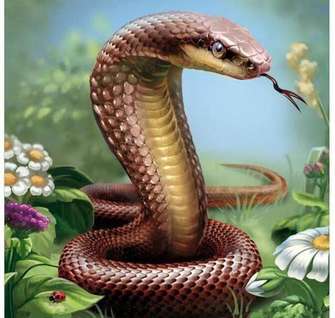Image of Snake #1 -DIY Diamond  Painting
