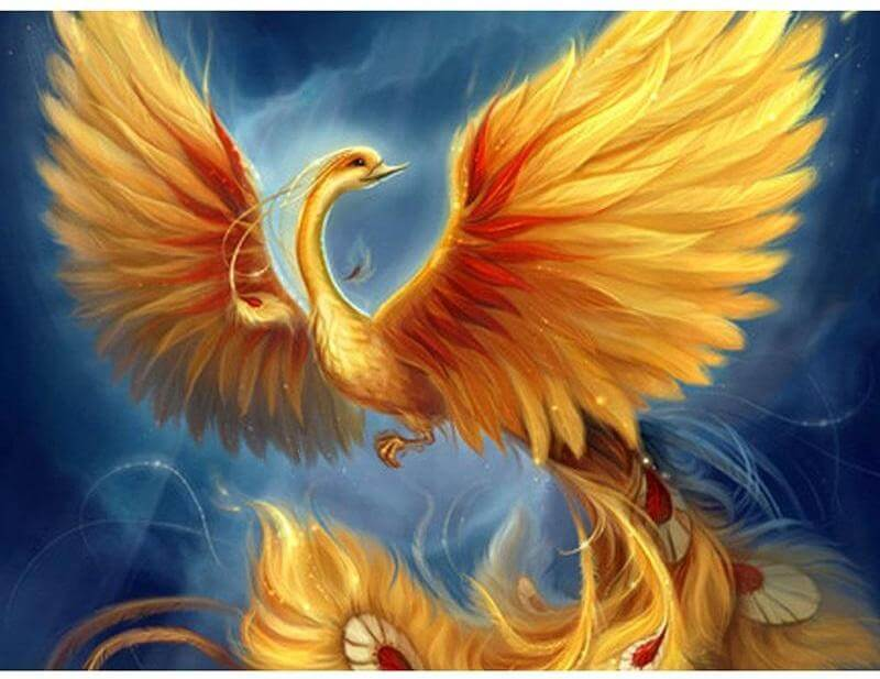 Golden Phoenix - DIY Diamond Painting