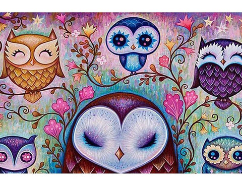 Image of Happy Owls - DIY Diamond Painting
