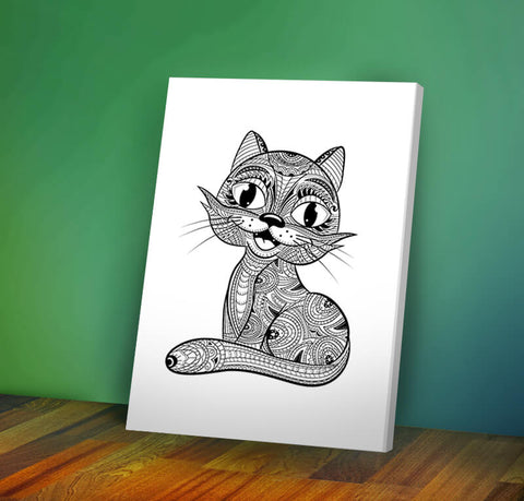 Cat #2 -  Coloring Canvas