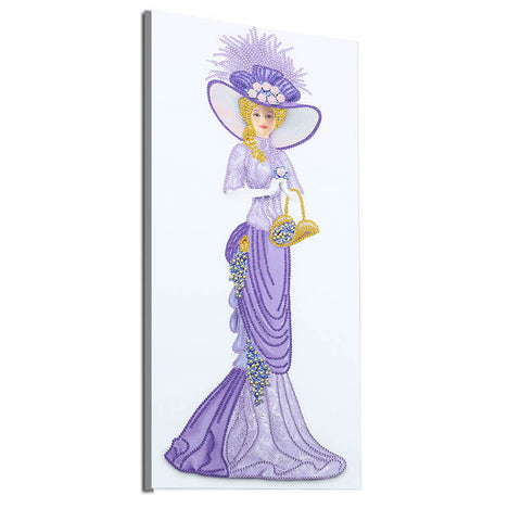 Lady in light purple dress- Special shaped drills