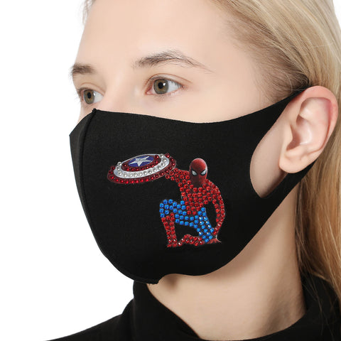 Image of Spider Man - DIY Diamond Face Mask