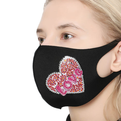 Image of Pink Heart - DIY Diamond Face Mask