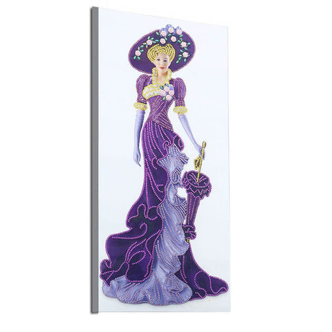 Lady with purple dress - Special shaped drills