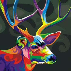 Colorful Deer Abstract - DIY Painting By Numbers