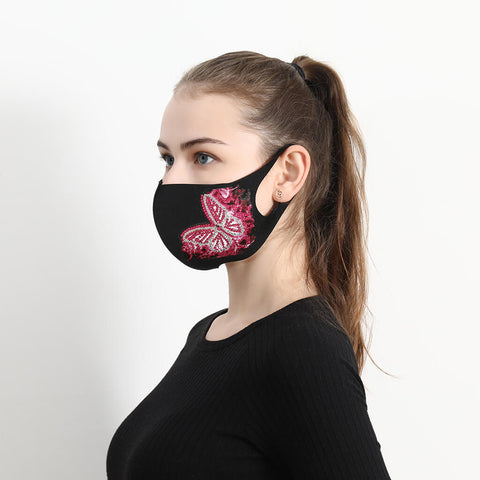 Image of Pink Butterfly - DIY Diamond Face Mask
