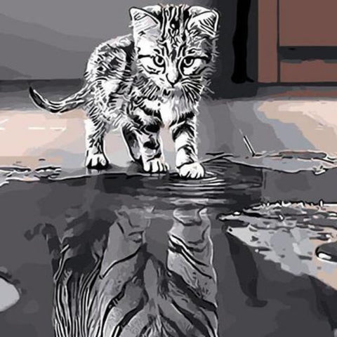 Cat or Tiger ? -  DIY Painting By Numbers