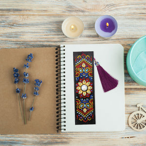 Mandala Sun - Diamond Painting Bookmark