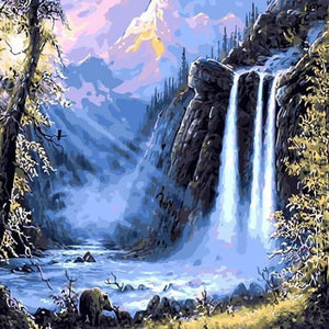 Beautiful Waterfall - DIY Painting By Numbers