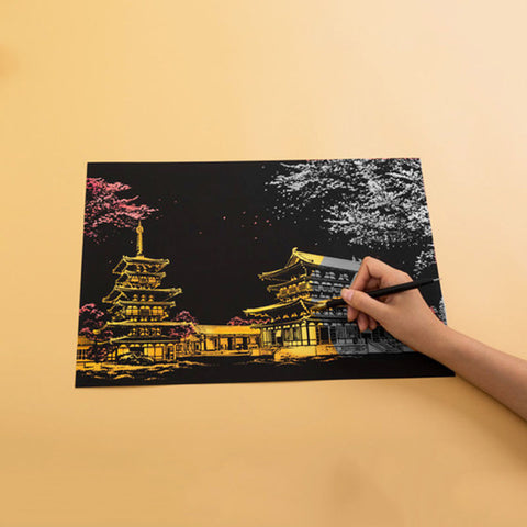 Image of Dream Castle - DIY Scratch Painting