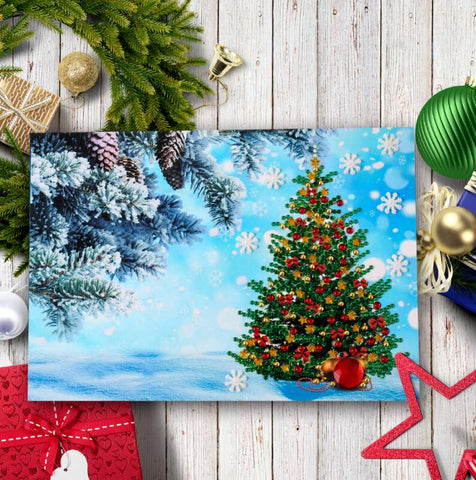Image of 4pcs Christmas Card DIY Diamond Painting