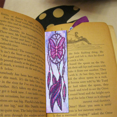 Butterfly Dreamcatcher - Diamond Painting Bookmark