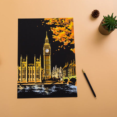 London - DIY Scratch Painting