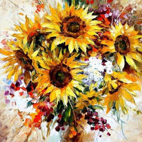 Image of Yellow Bouquet-  DIY Painting By Numbers