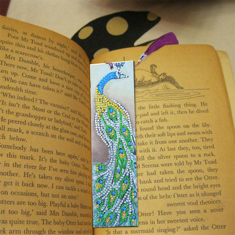 Peacock - Diamond Painting Bookmark