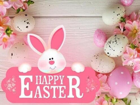 Image of Happy Easter Sign - DIY Diamond Painting