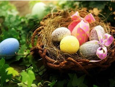 Image of Easter Egg with Ribbons in a Nest - DIY Diamond Painting
