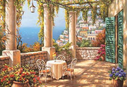 Image of Vintage Terrace - DIY Diamond Painting