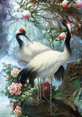 Image of Red Crowned Crane - DIY Diamond Painting