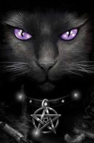 Image of Gothic Cat - DIY Diamond Painting
