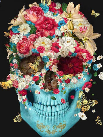 Image of Floral Skull - DIY Diamond Painting