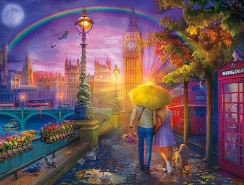 Image of Lovely Couple in a Rainbow - DIY Diamond Painting