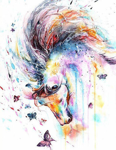 Pastel Painted Horse - DIY Diamond Painting
