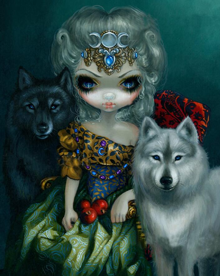Gothic Wolf Queen - DIY Diamond Painting