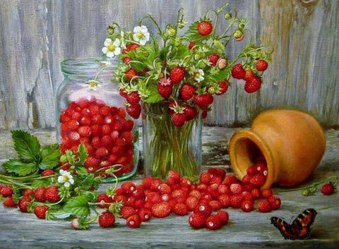Image of Strawberries - DIY Diamond Painting