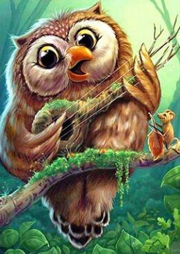 Image of Singing Owl - DIY Diamond Painting