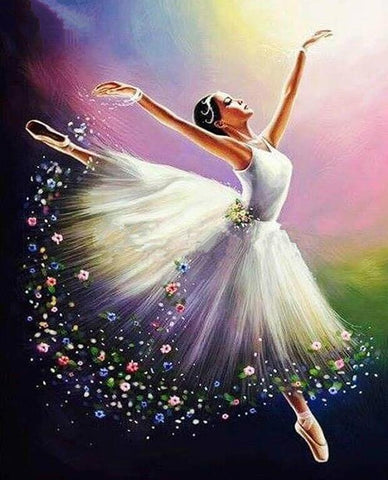Image of ballerina painting