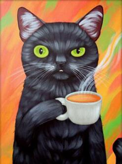 Image of cat painting