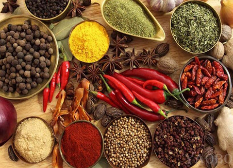 Image of Different Spices and Herbs - DIY Diamond Painting