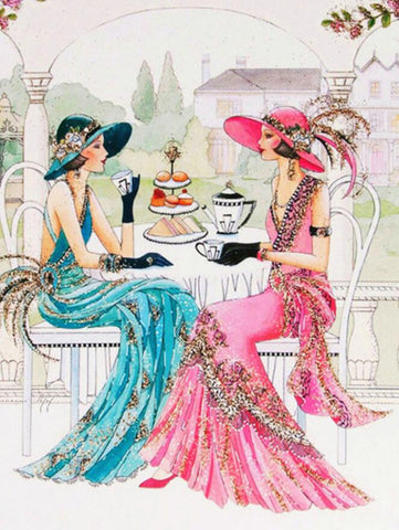 Image of Tea Time with the Girls - DIY Diamond Painting